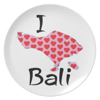 I heart Bali Dinner Plate