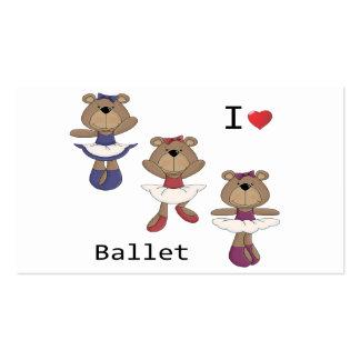 I Heart Ballet Bear Ballerina's Business Cards