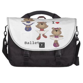 I Heart Ballet Bear Ballerina's Bag For Laptop