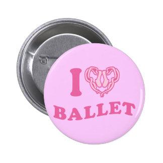 I Heart Ballet Button