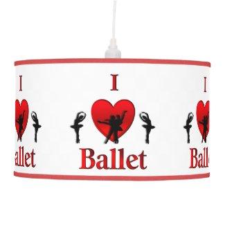 I Heart Ballet Dance Hanging Pendant Lamps