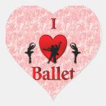 I Heart Ballet Heart Sticker
