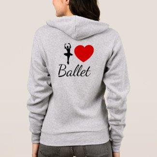 I heart ballet hoodie