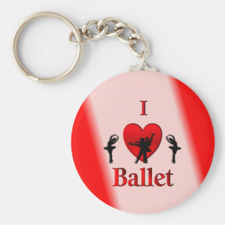 I Heart Ballet Keychain