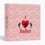 I Heart Ballet Vinyl Binders