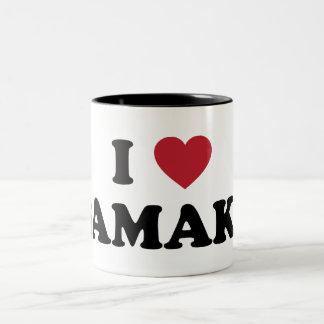 I Heart Bamako Mali Two-Tone Coffee Mug