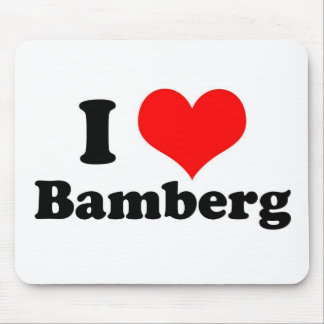 I heart Bamberg Mouse Pads