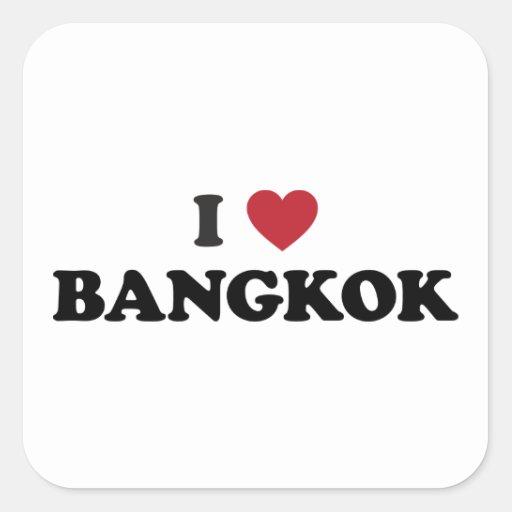 I Heart Bangkok Thailand Square Sticker