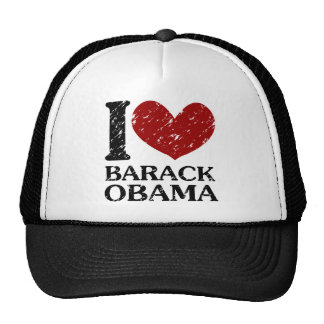 i heart barack obama vintage trucker hat