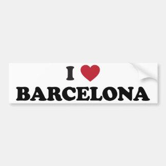 I Heart Barcelona Spain Bumper Sticker