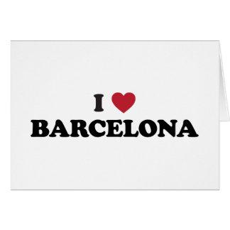 I Heart Barcelona Spain Card