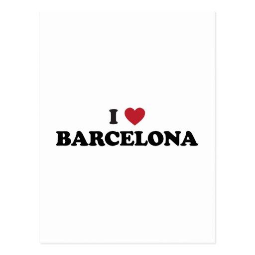 I Heart Barcelona Spain Postcards