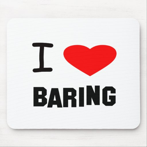 I Heart baring Mouse Pads