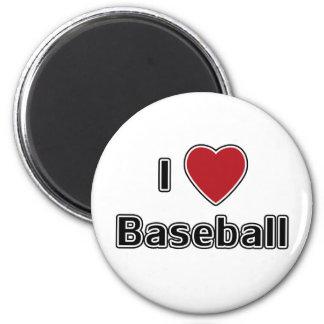 I Heart Baseball 2 Inch Round Magnet