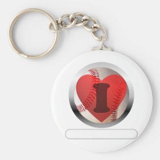 I HEART Baseball- add your words Basic Round Button Keychain
