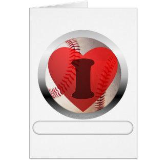 I HEART Baseball- add your words Card