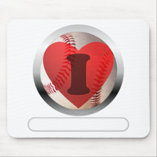 I HEART Baseball- add your words Mouse Pad
