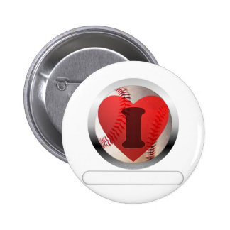 I HEART Baseball- add your words Pinback Button