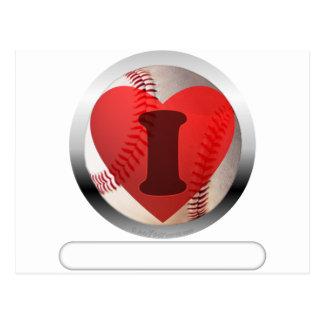 I HEART Baseball- add your words Postcard