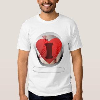 I HEART Baseball- add your words T Shirt