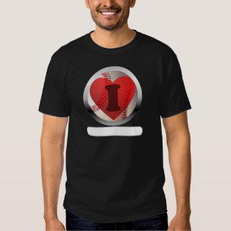 I HEART Baseball- add your words Tee Shirt