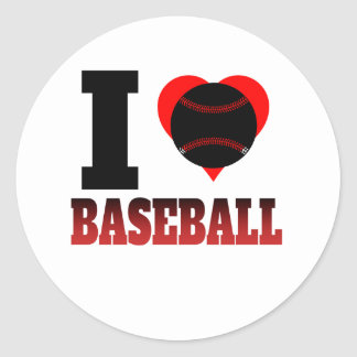 I Heart Baseball Classic Round Sticker