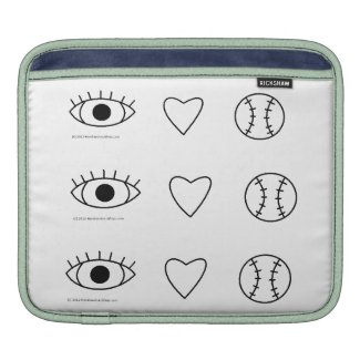 I Heart Baseball Macbook Air Sleeve rickshawsleeve
