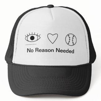 i Heart Baseball - No Reason Needed Hat zazzle_hat