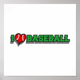 I heart baseball print