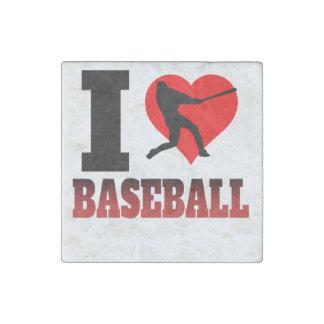 I Heart Baseball Stone Magnet