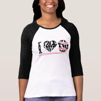I Heart Baseball: Women's Bella+Canvas 3/4 Sleeve T-Shirt