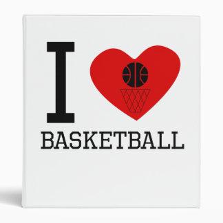 I Heart Basketball 3 Ring Binders