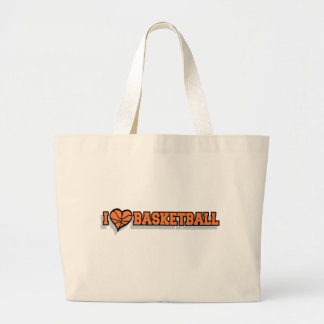 I Heart Basketball Canvas Bags
