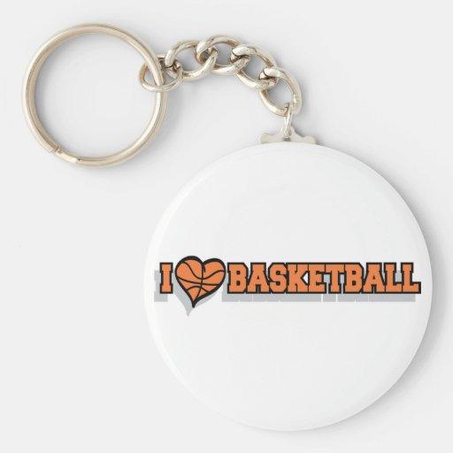 I Heart Basketball Keychains