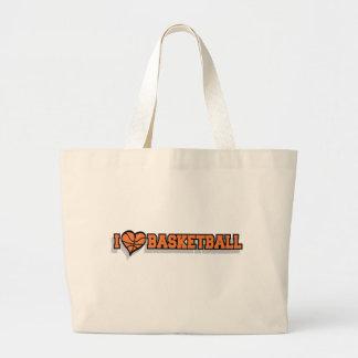 I Heart Basketball Large Tote Bag