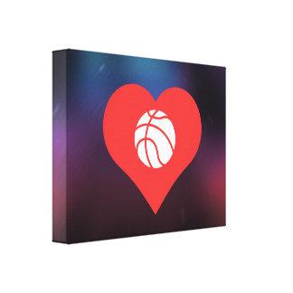 I Heart Basketball Players Icon Canvas Print
