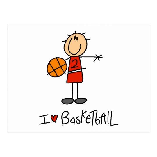 I Heart Basketball Postcard