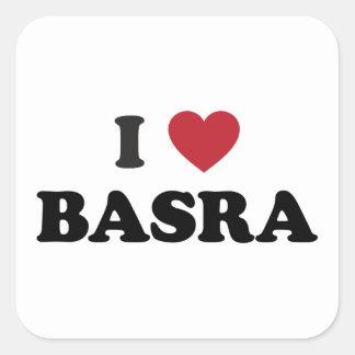 I Heart Basra Iraq Square Sticker