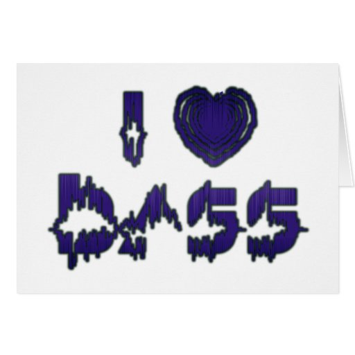 I Heart Bass Greeting Cards