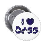 I Heart Bass Pinback Button