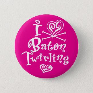 I Heart Baton Twirling Button
