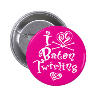 I Heart Baton Twirling Button