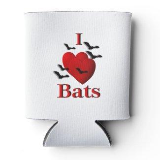 I Heart Bats Can Cooler