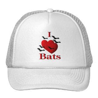 I Heart Bats Mesh Hat