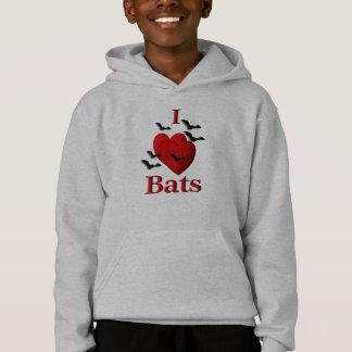 I Heart Bats Hoodie