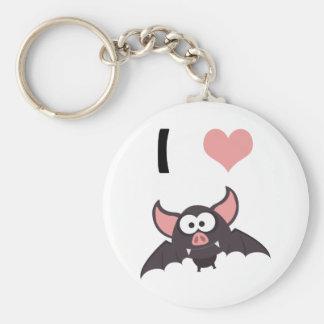 I heart bats keychain