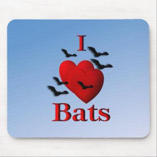 I Heart Bats Mouse Pads