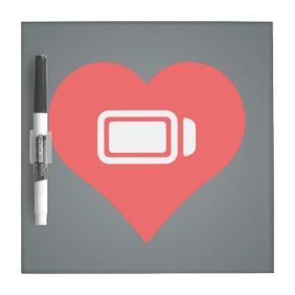 I Heart battery status Icon Dry Erase Board