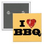 I heart BBQ, Steak Heart Shape Funny Grilling Pin