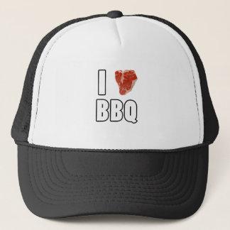 I Heart BBQ Trucker Hat